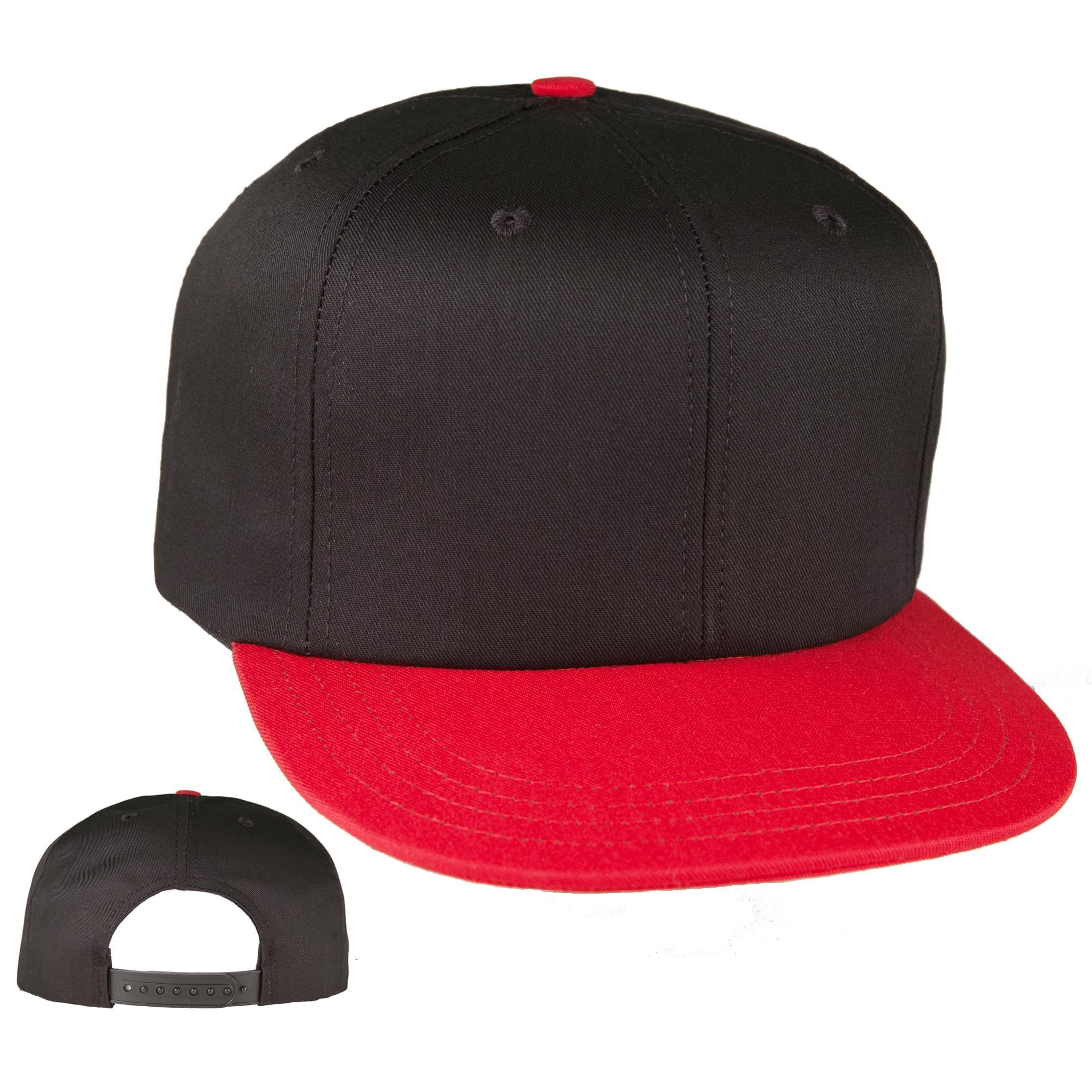 flat bill custom american made baseball caps hi crown 6