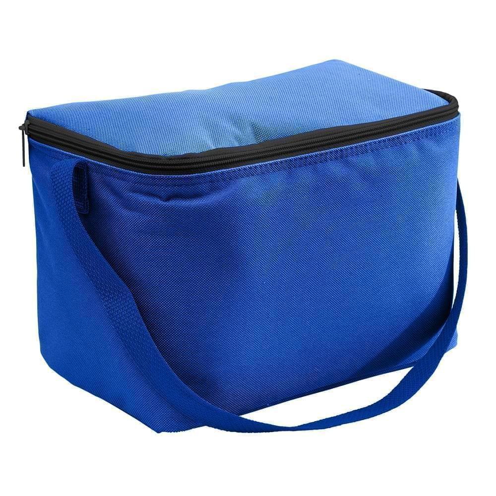 USA Made Nylon Poly 6 Pack Coolers, Royal-Royal, 100960-A03