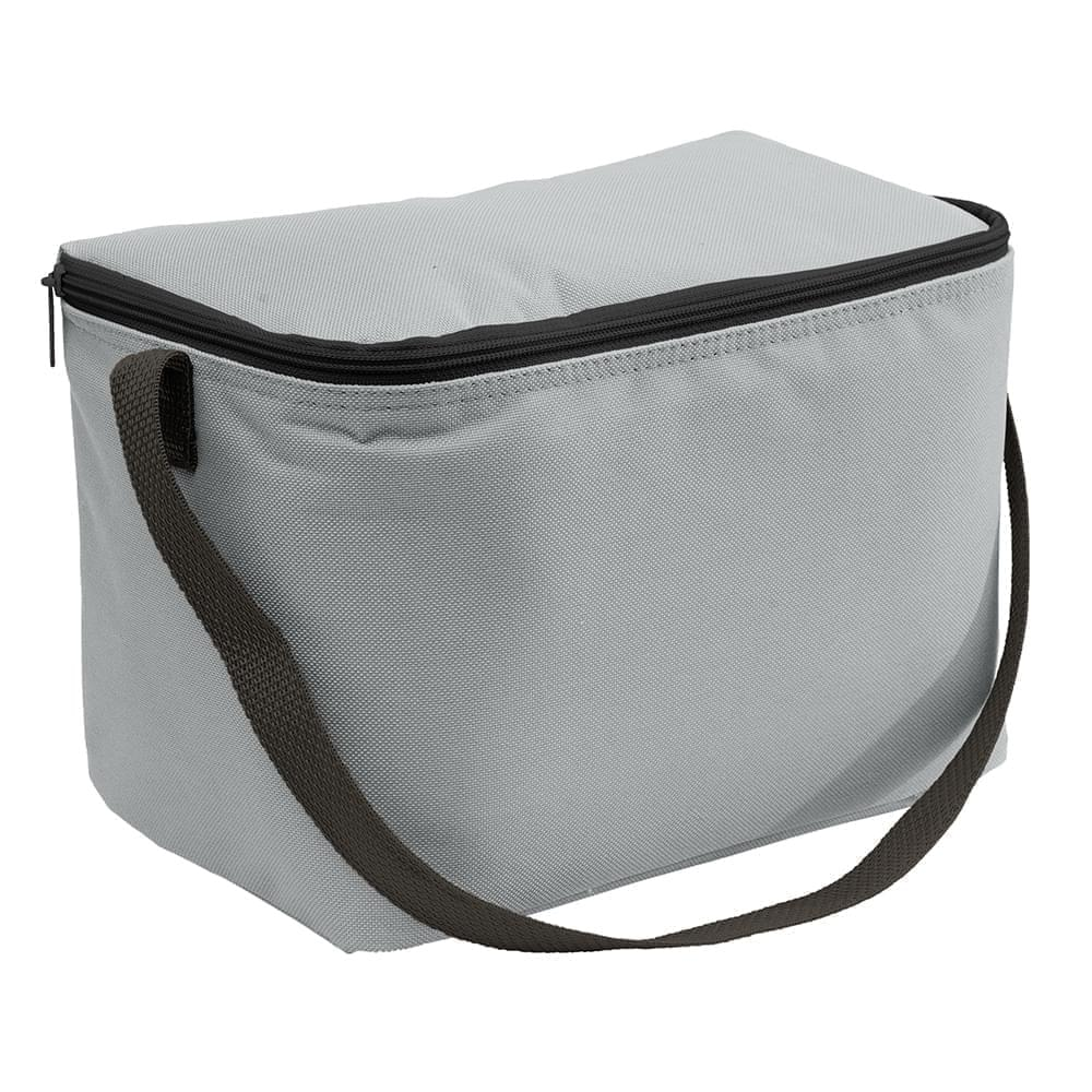USA Made Nylon Poly 6 Pack Coolers, Gray-Black, 100960-A1R