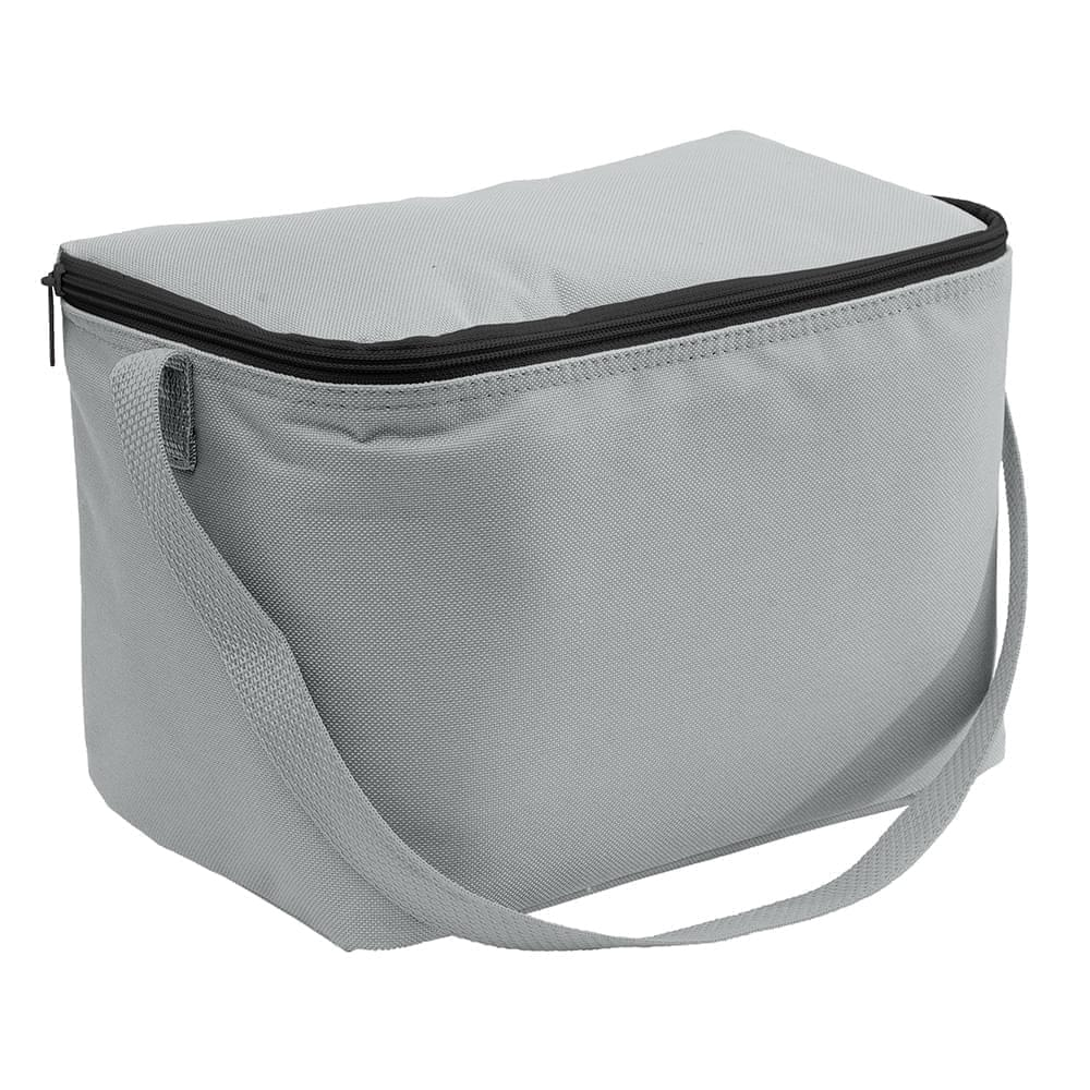 USA Made Nylon Poly 6 Pack Coolers, Gray-Gray, 100960-A1U