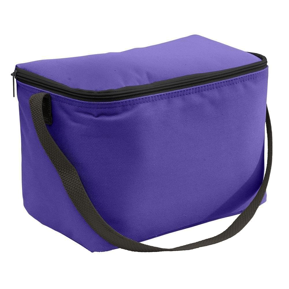 USA Made Nylon Poly 6 Pack Coolers, Purple-Black, 100960-AYR