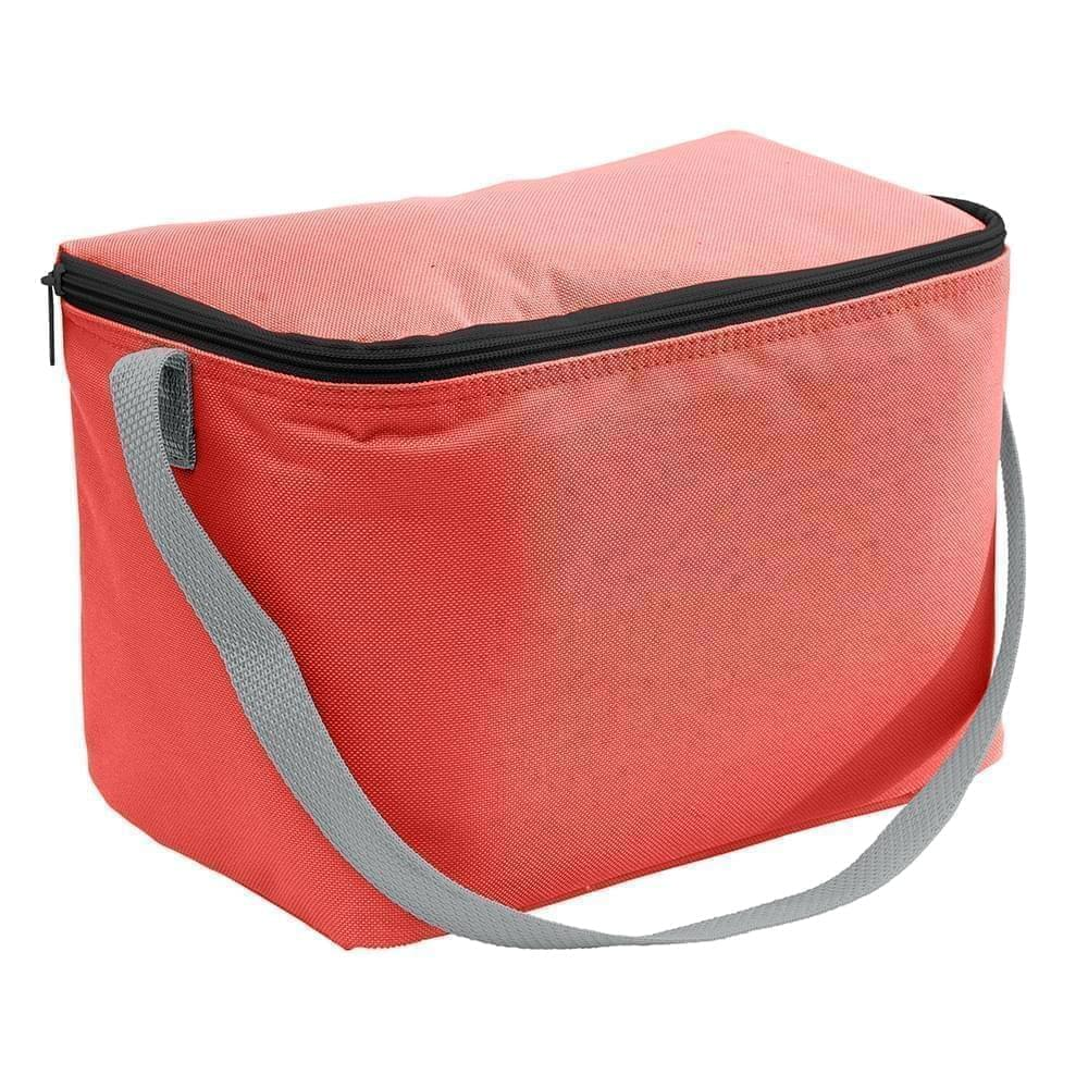 USA Made Nylon Poly 6 Pack Coolers, Red-Gray, 100960-AZU