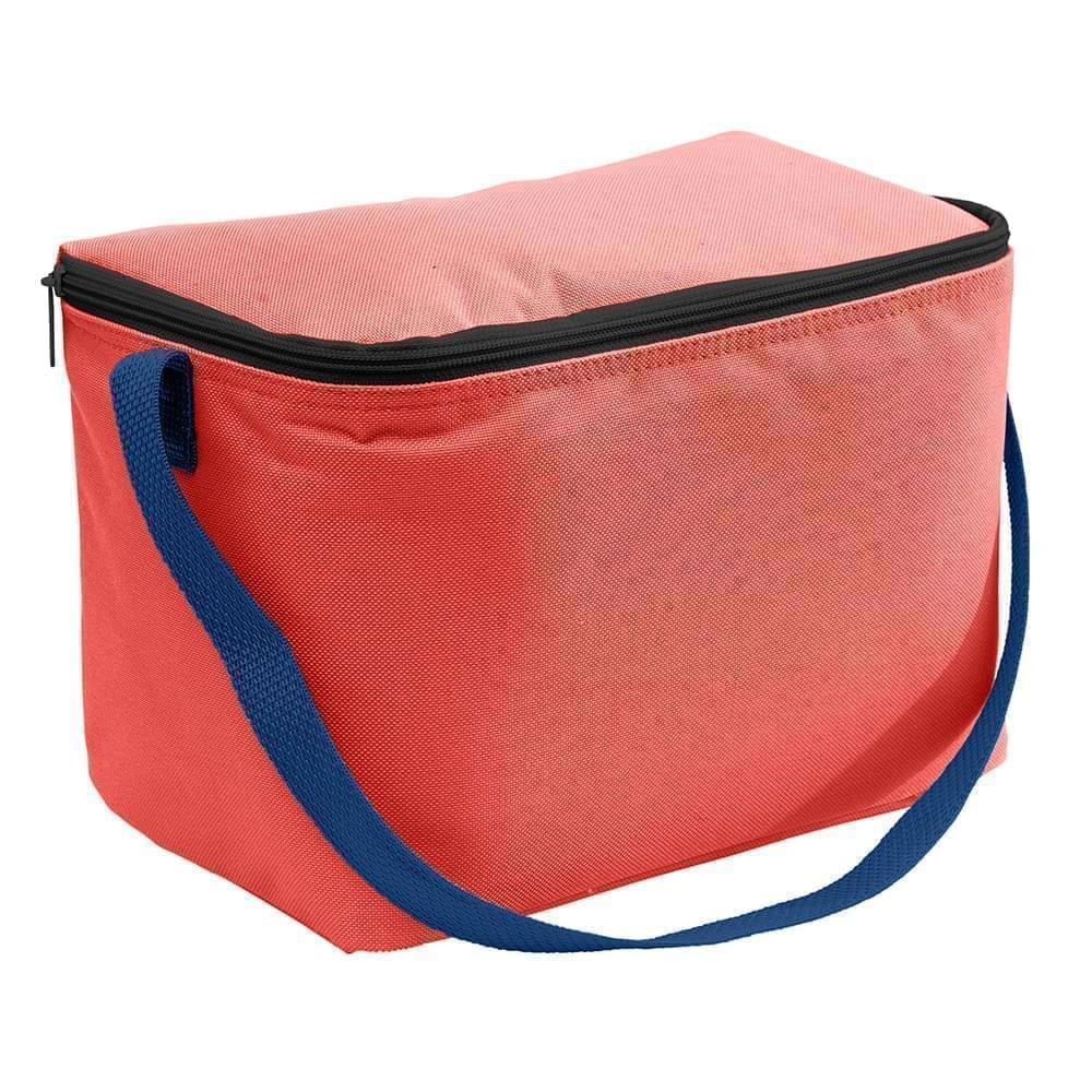 USA Made Nylon Poly 6 Pack Coolers, Red-Navy, 100960-AZZ