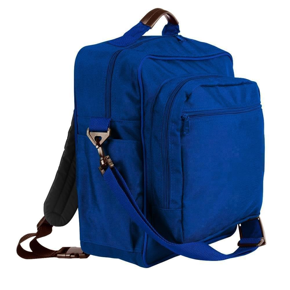 USA Made Poly Daypack Rucksacks, Royal Blue-Royal Blue, 1070-A03