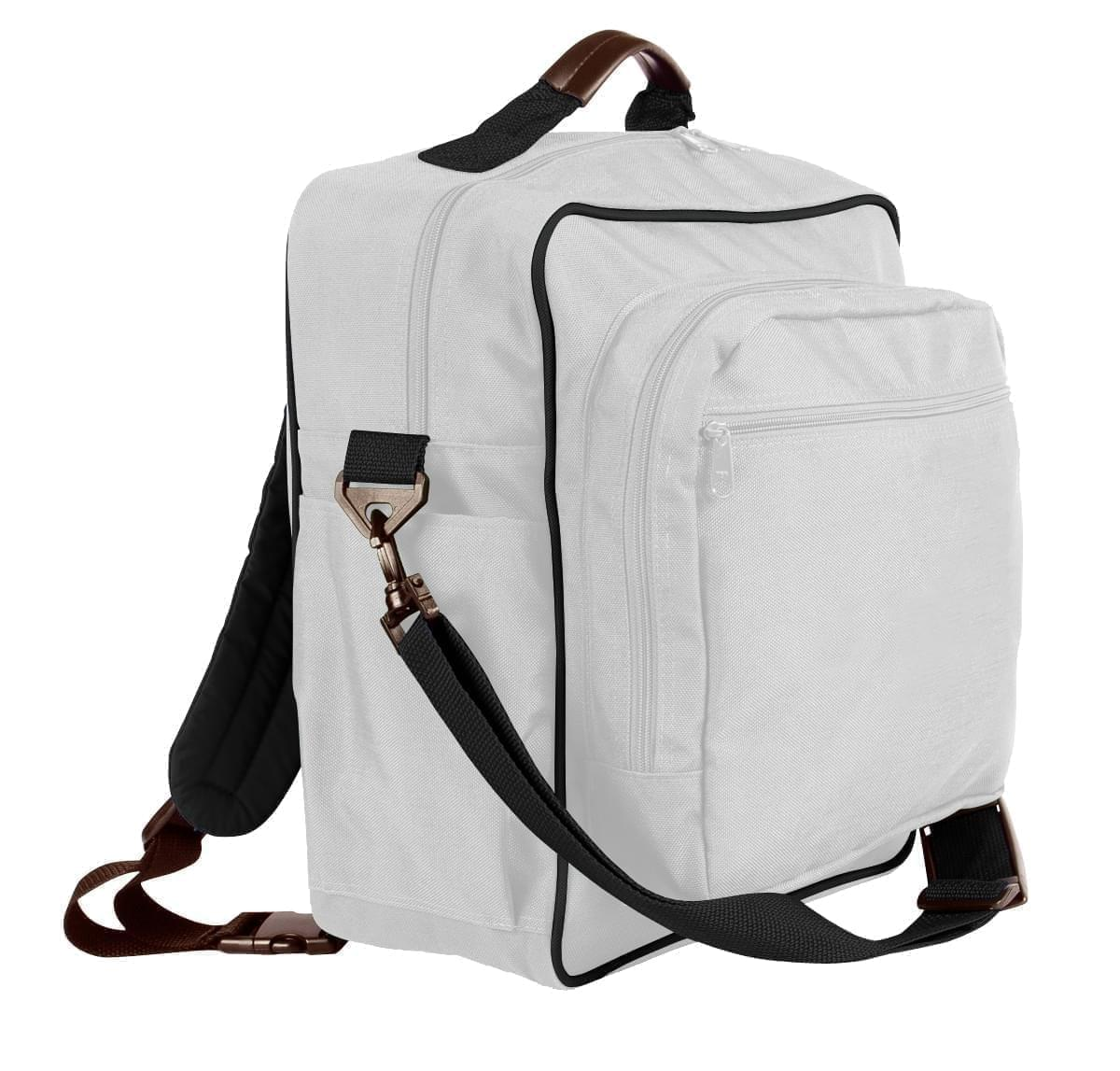 USA Made Poly Daypack Rucksacks, White-Black, 1070-A3R