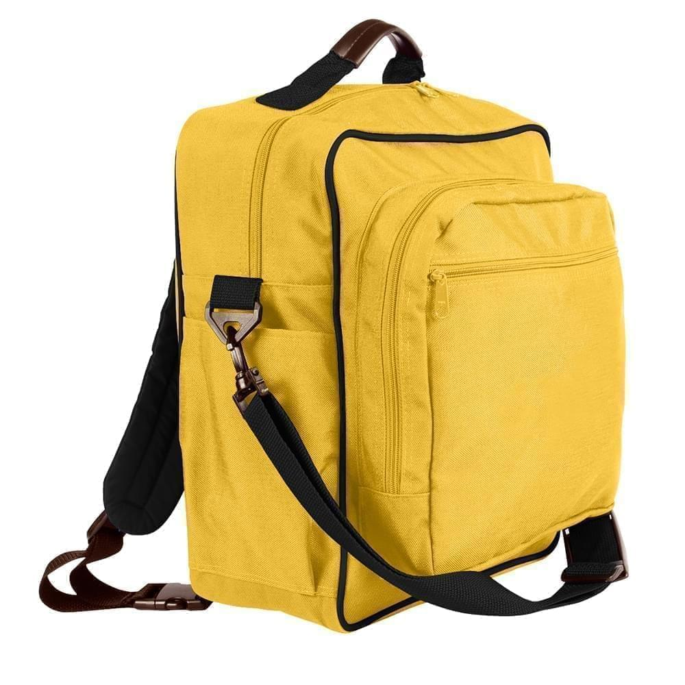 USA Made Poly Daypack Rucksacks, Gold-Black, 1070-A4R