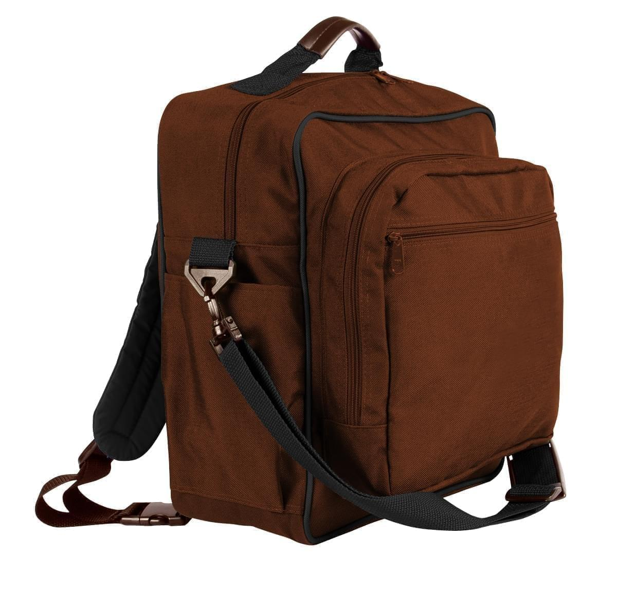 USA Made Poly Daypack Rucksacks, Brown-Black, 1070-APR