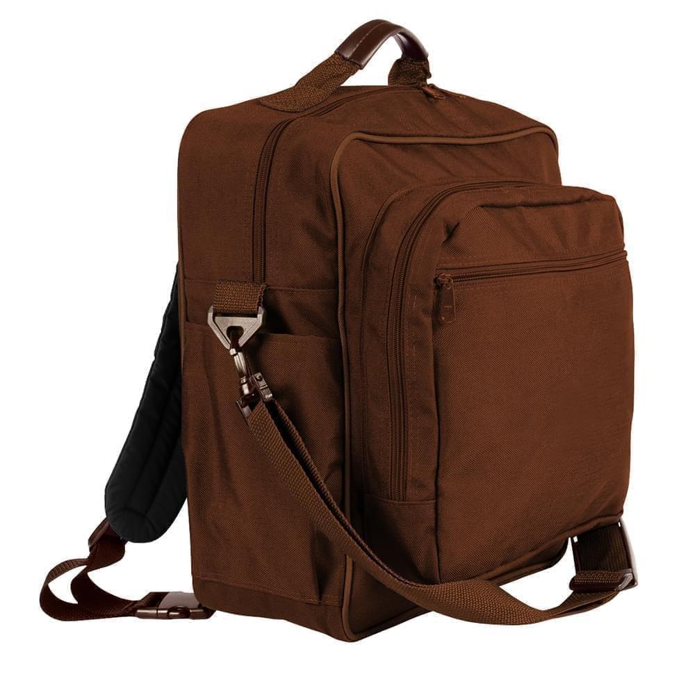 USA Made Poly Daypack Rucksacks, Brown-Brown, 1070-APS