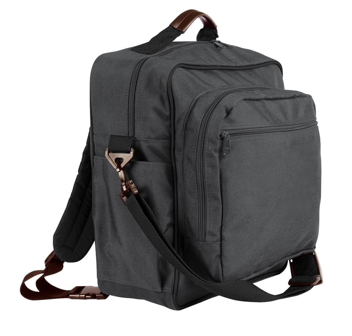 USA Made Poly Daypack Rucksacks, Graphite-Black, 1070-ARR