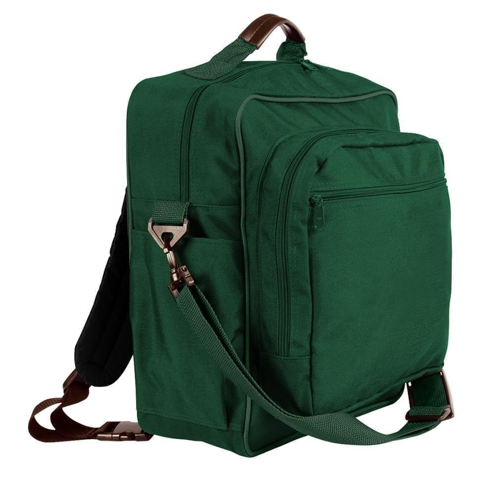 USA Made Poly Daypack Rucksacks, Hunter Green-Hunter Green, 1070-ASV
