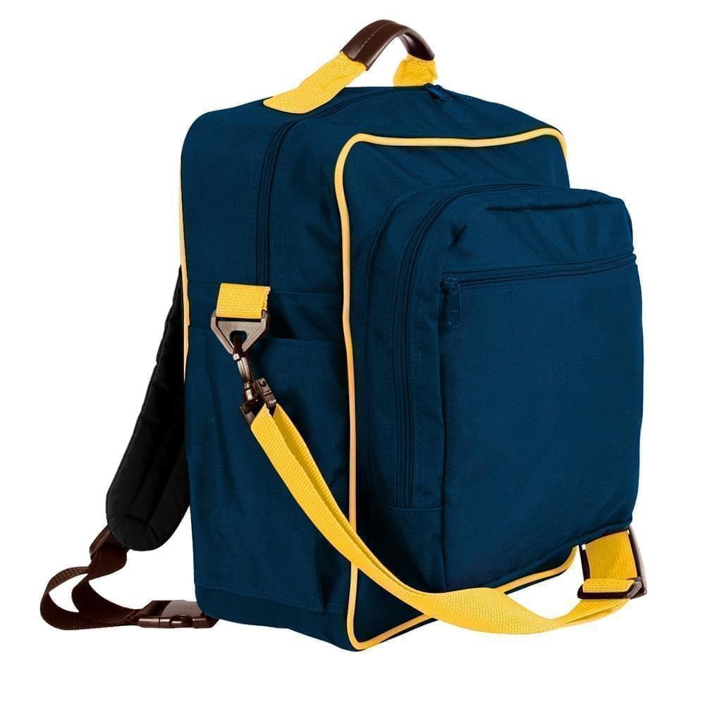 USA Made Poly Daypack Rucksacks, Navy-Gold, 1070-AW5