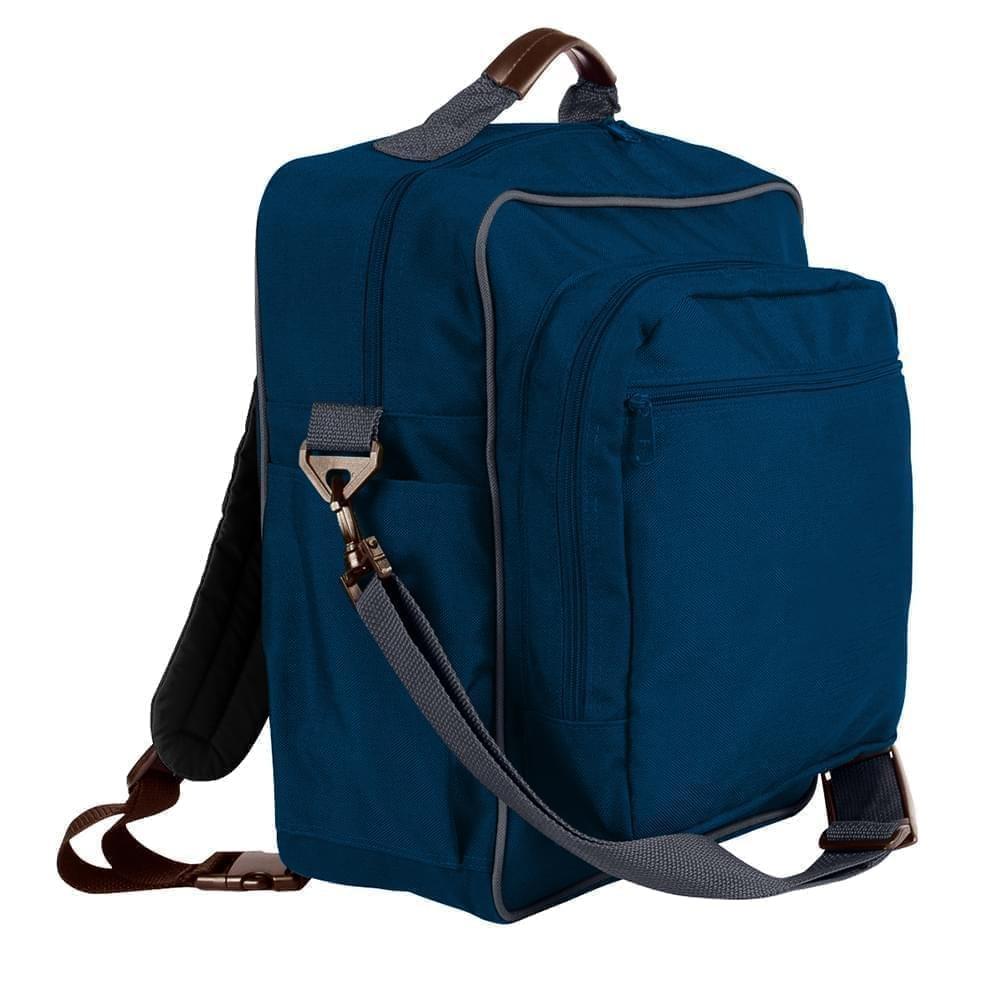 USA Made Poly Daypack Rucksacks, Navy-Graphite, 1070-AWT