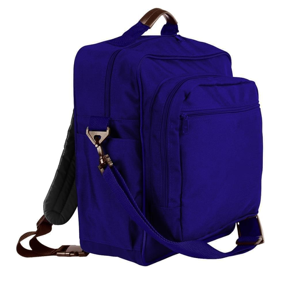 USA Made Poly Daypack Rucksacks, Purple-Purple, 1070-AY1