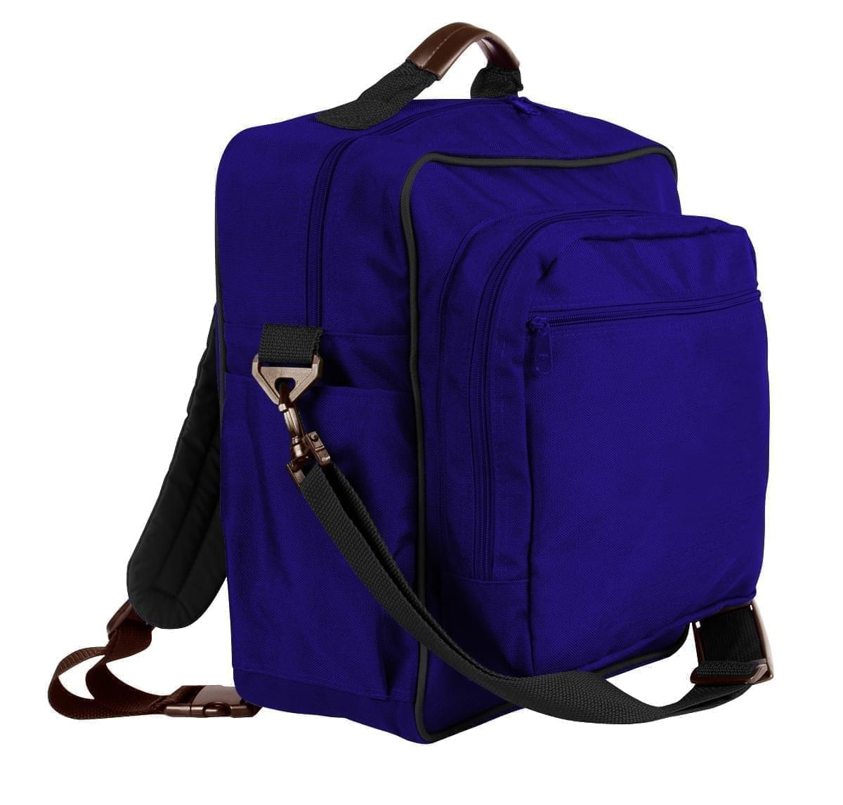 USA Made Poly Daypack Rucksacks, Purple-Black, 1070-AYR