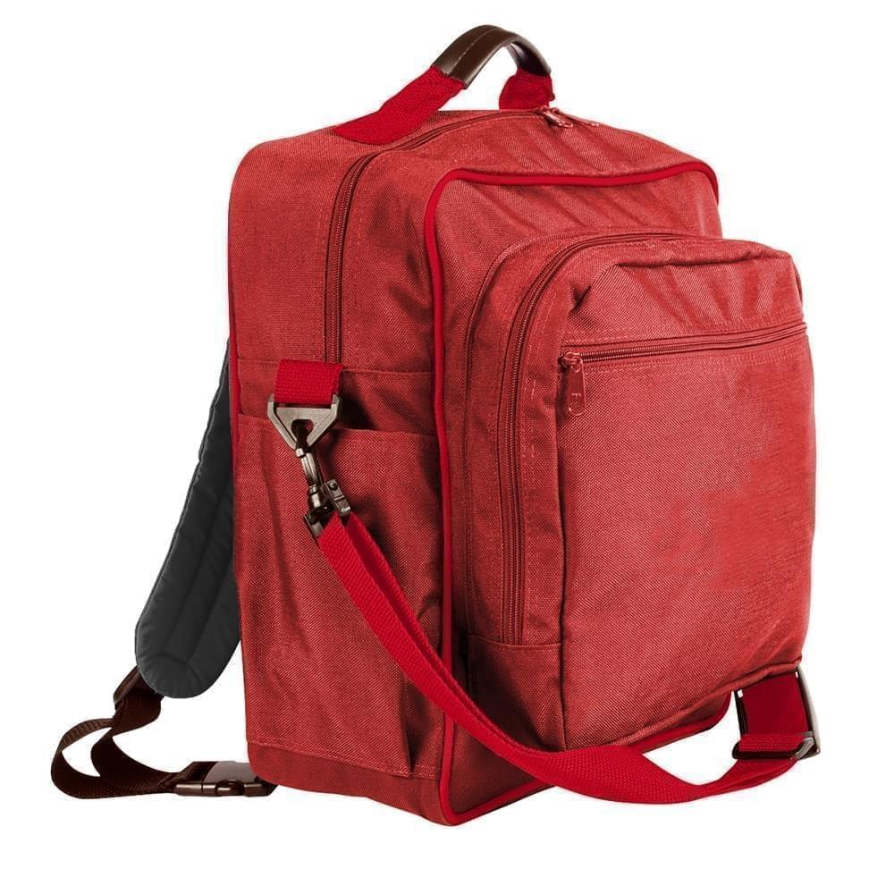 USA Made Poly Daypack Rucksacks, Red-Red, 1070-AZ2