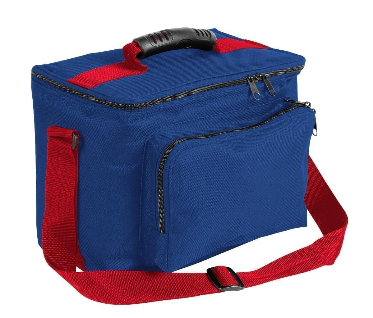 USA Made Nylon Poly Lunch Coolers, Royal Blue-Red, 11001161-A02