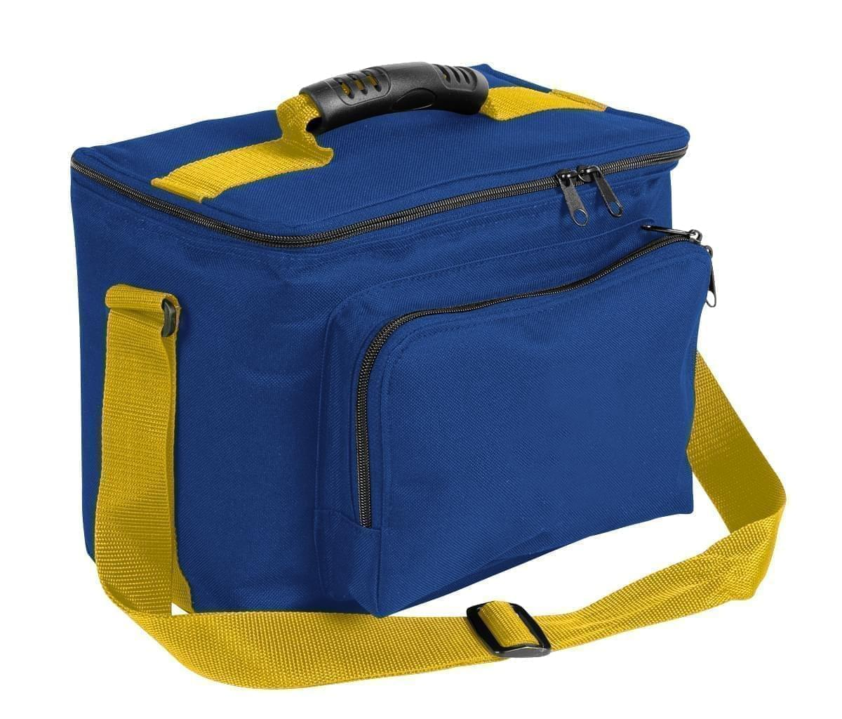 USA Made Nylon Poly Lunch Coolers, Royal Blue-Gold, 11001161-A05