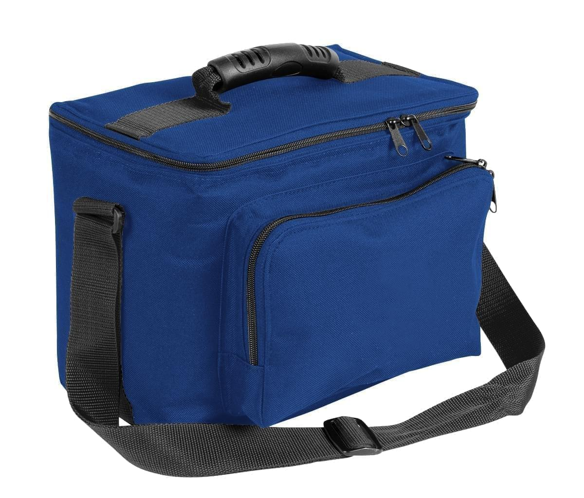 USA Made Nylon Poly Lunch Coolers, Royal Blue-Black, 11001161-A0R