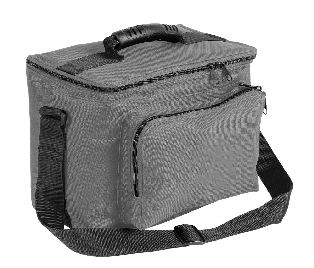 USA Made Nylon Poly Lunch Coolers, Grey-Black, 11001161-A1R