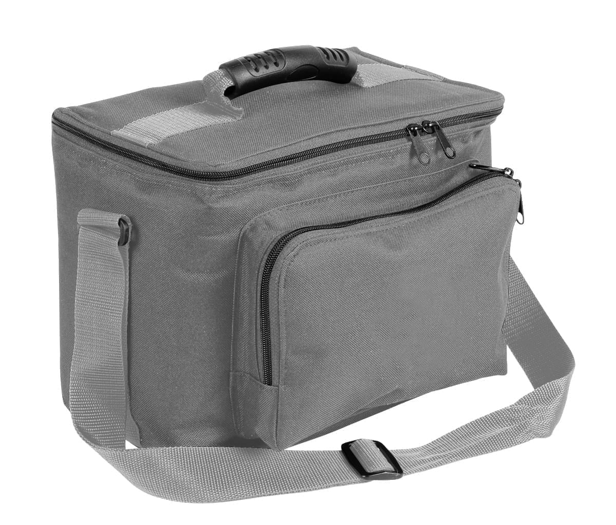 USA Made Nylon Poly Lunch Coolers, Grey-Grey, 11001161-A1U