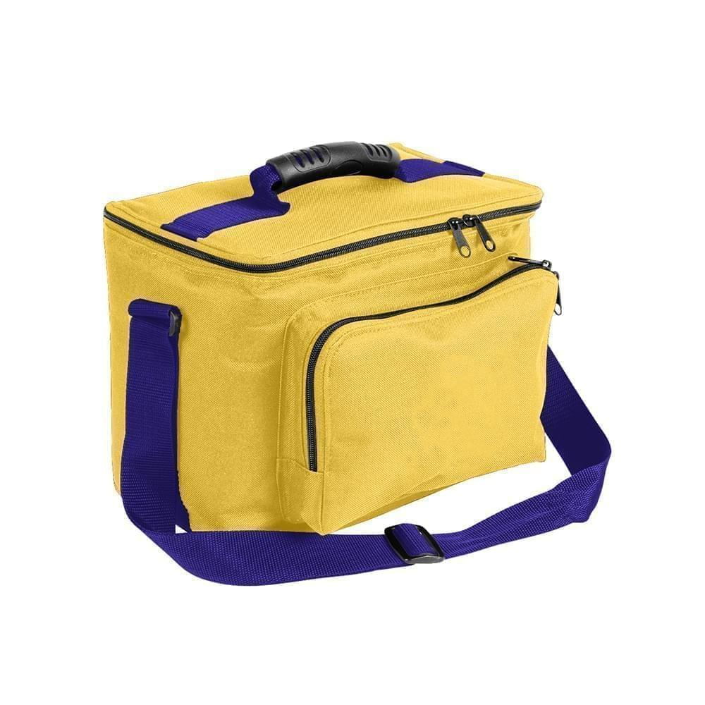 USA Made Nylon Poly Lunch Coolers, Gold-Purple, 11001161-A41