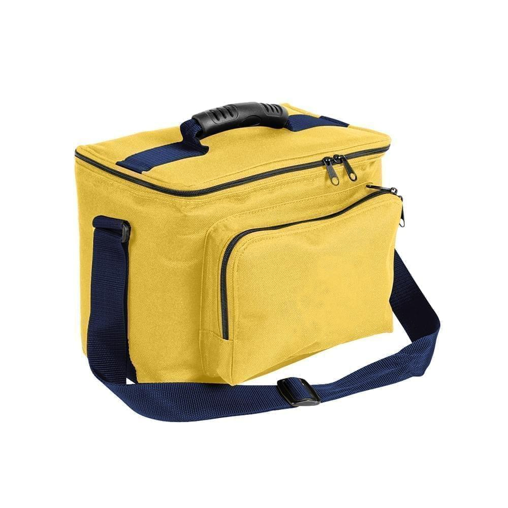 USA Made Nylon Poly Lunch Coolers, Gold-Navy, 11001161-A4Z