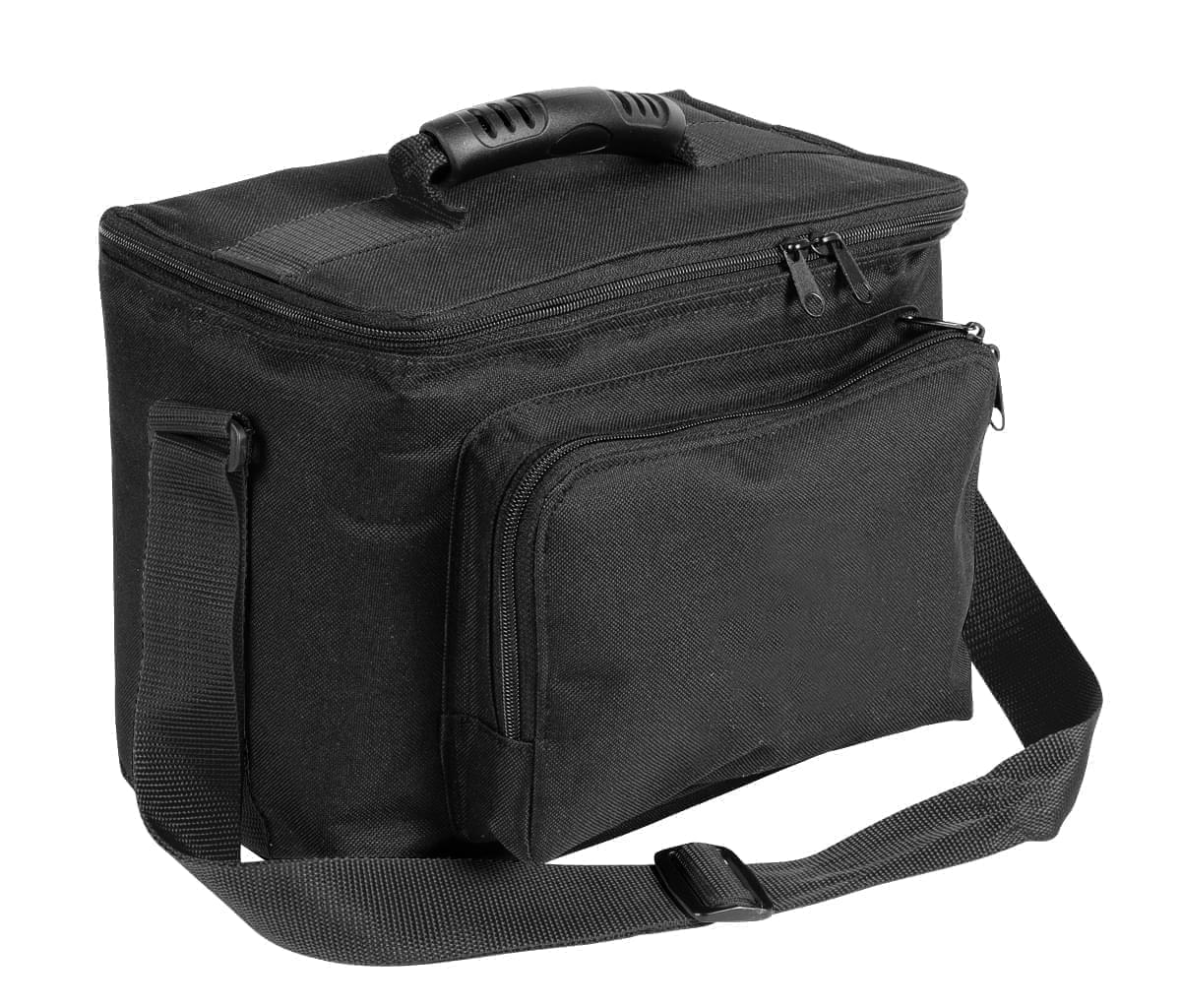 USA Made Nylon Poly Lunch Coolers, Black-Black, 11001161-AOR