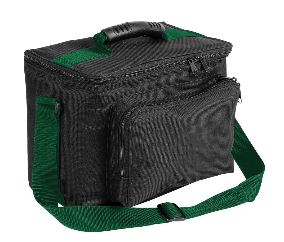 USA Made Nylon Poly Lunch Coolers, Black-Hunter Green, 11001161-AOV