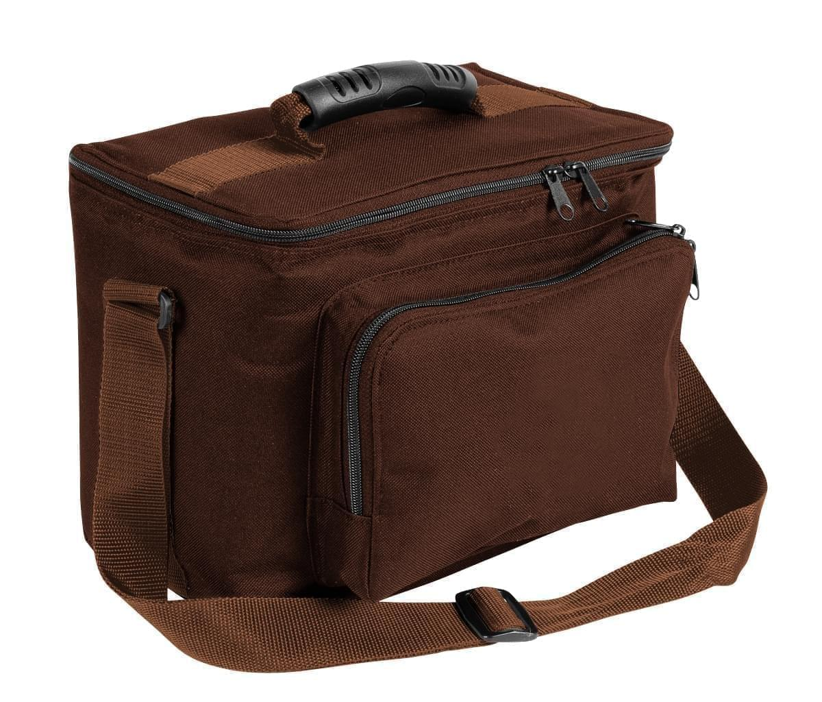 USA Made Nylon Poly Lunch Coolers, Brown-Brown, 11001161-APS