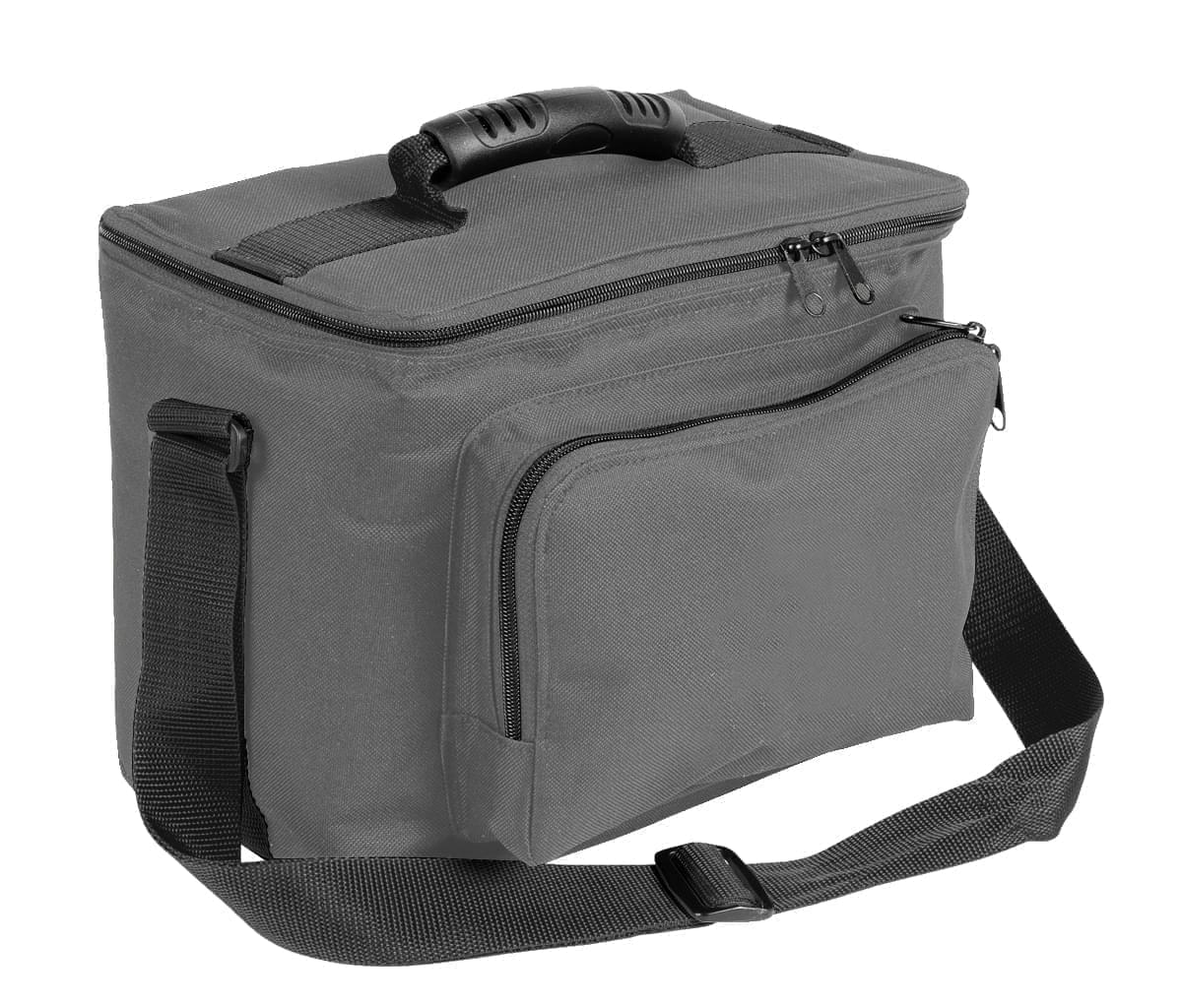 USA Made Nylon Poly Lunch Coolers, Graphite-Black, 11001161-ARR