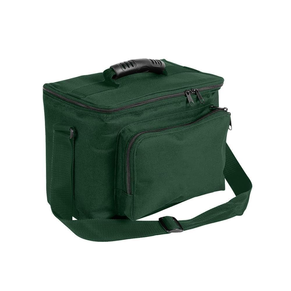 USA Made Nylon Poly Lunch Coolers, Hunter Green-Hunter Green, 11001161-ASV