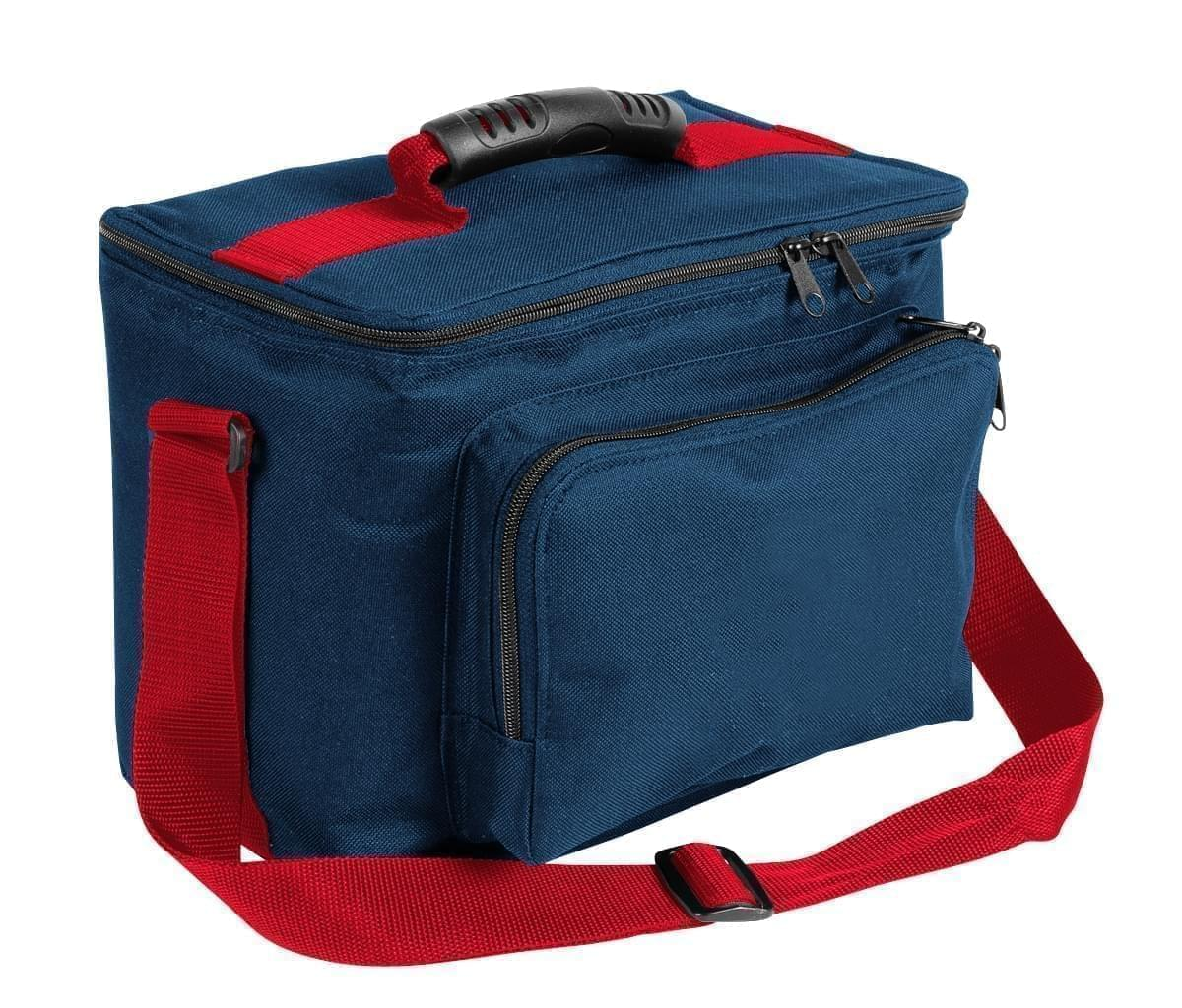 USA Made Nylon Poly Lunch Coolers, Navy-Red, 11001161-AW2