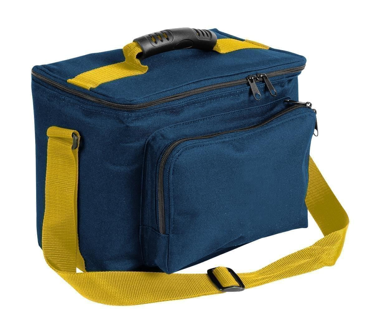 USA Made Nylon Poly Lunch Coolers, Navy-Gold, 11001161-AW5