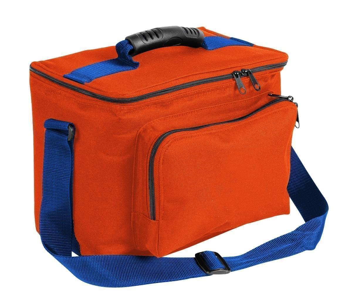 USA Made Nylon Poly Lunch Coolers, Orange-Royal Blue, 11001161-AX3