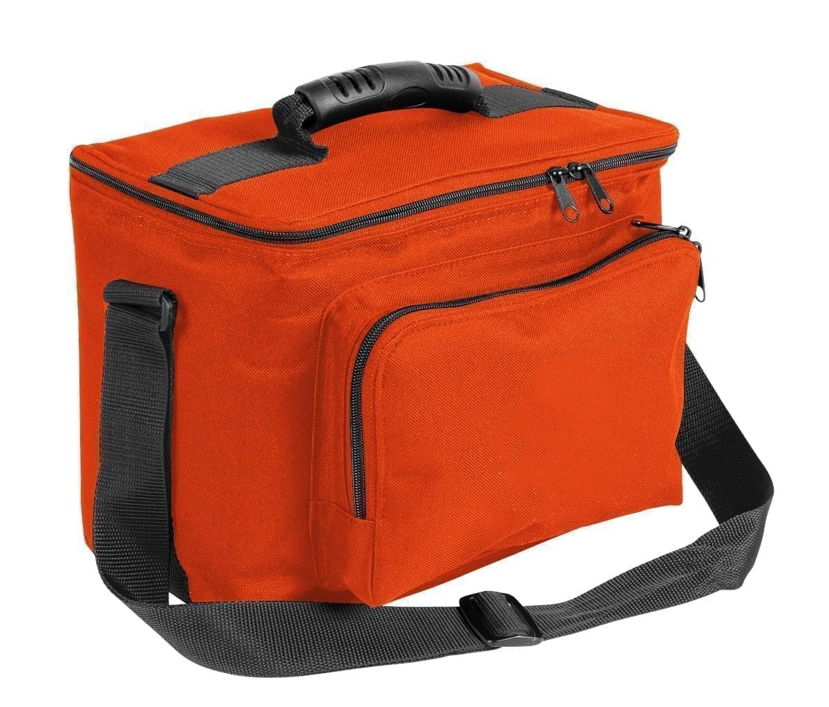 USA Made Nylon Poly Lunch Coolers, Orange-Black, 11001161-AXR