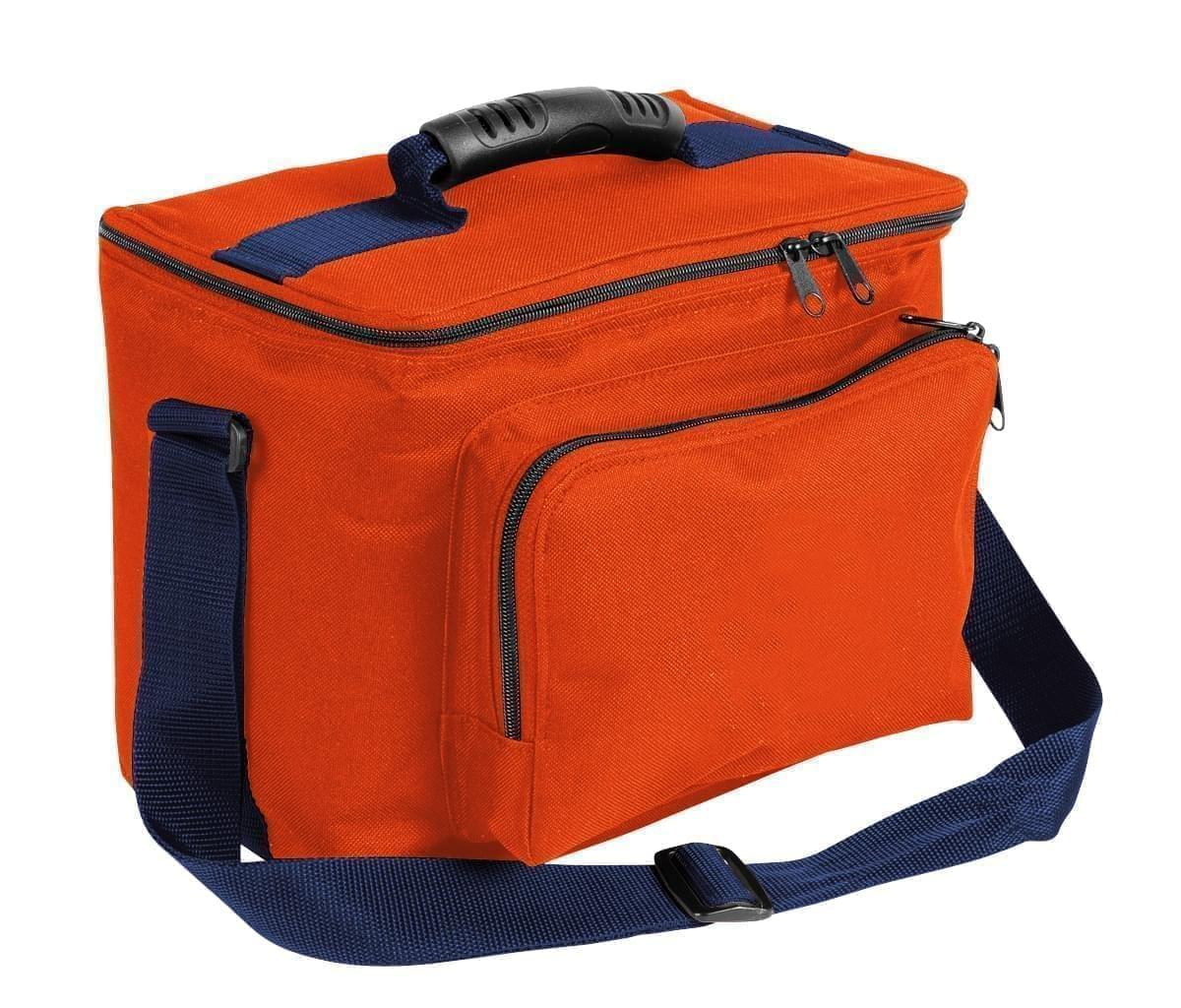 USA Made Nylon Poly Lunch Coolers, Orange-Navy, 11001161-AXZ
