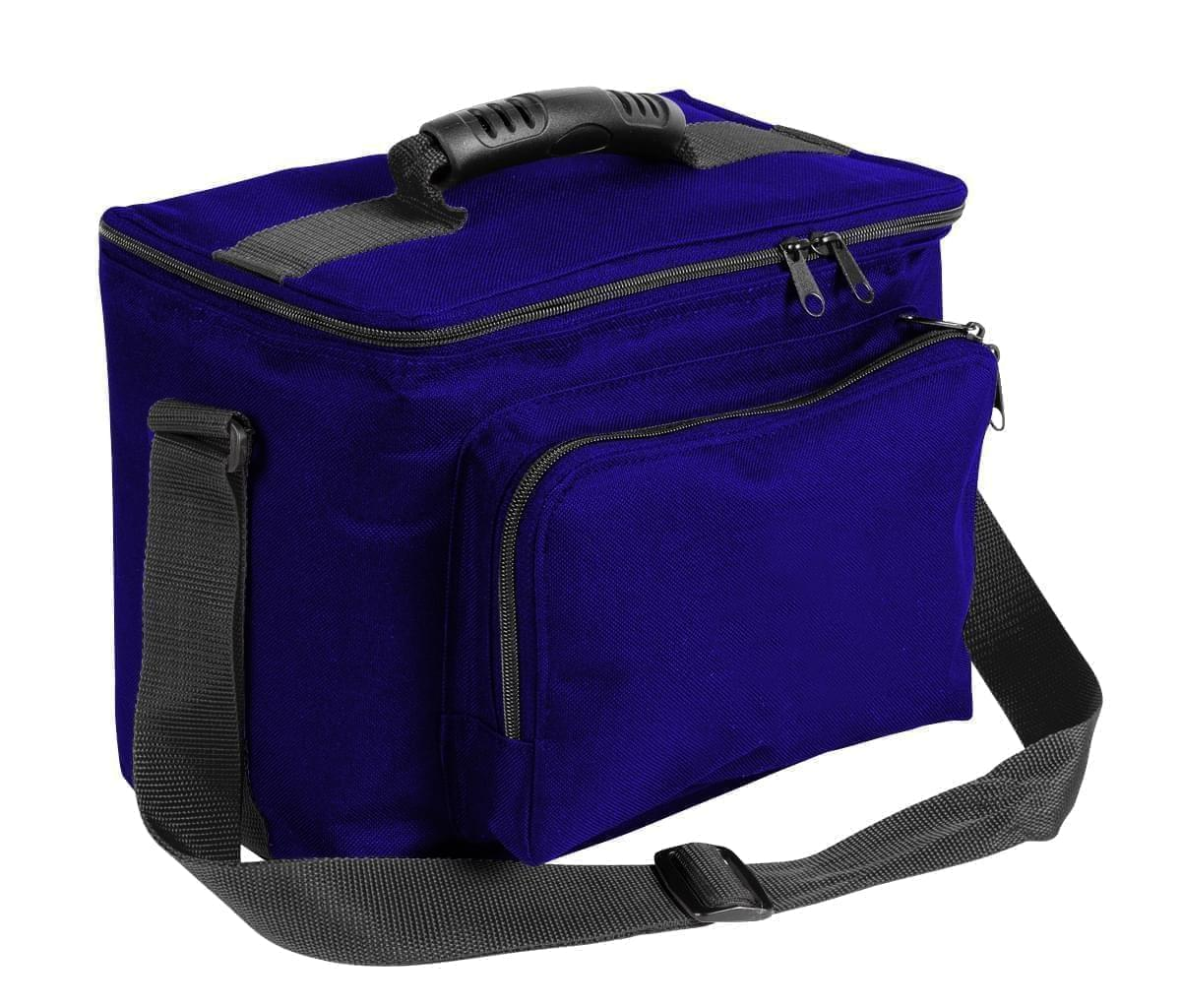 USA Made Nylon Poly Lunch Coolers, Purple-Black, 11001161-AYR