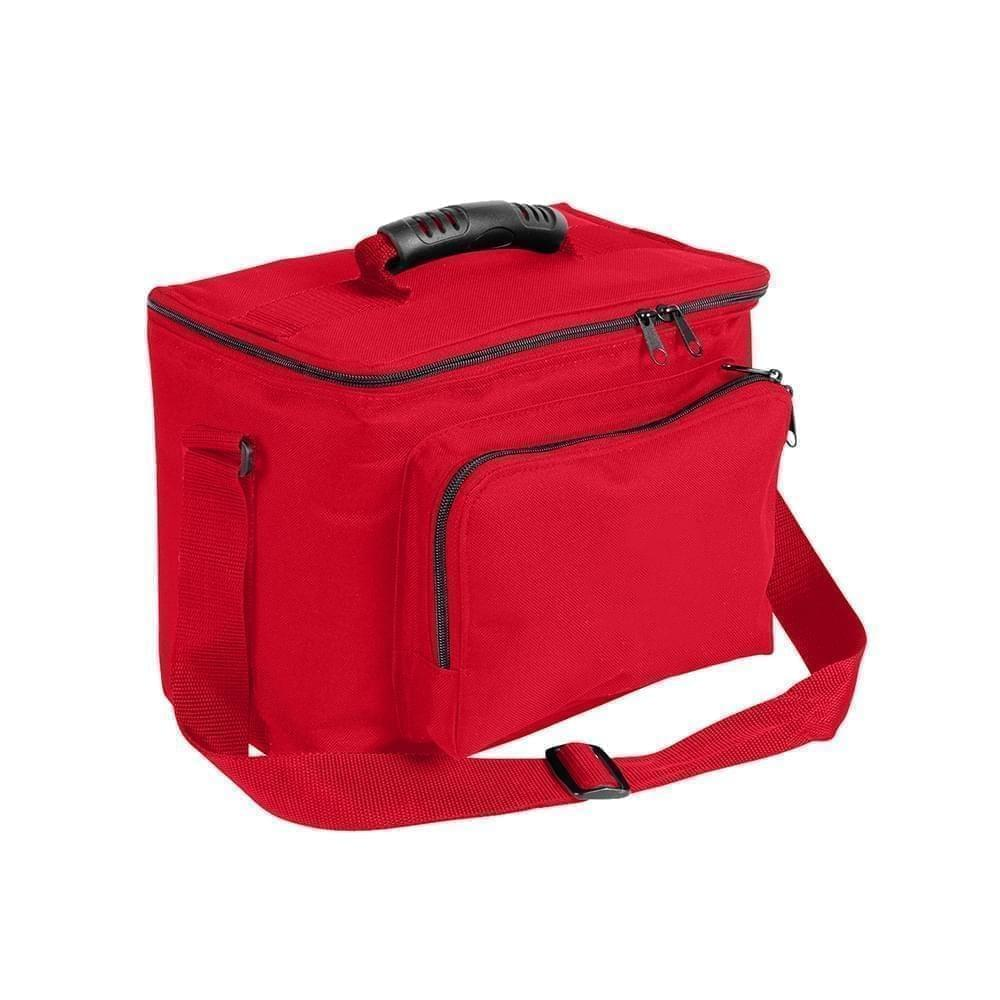 USA Made Nylon Poly Lunch Coolers, Red-Red, 11001161-AZ2