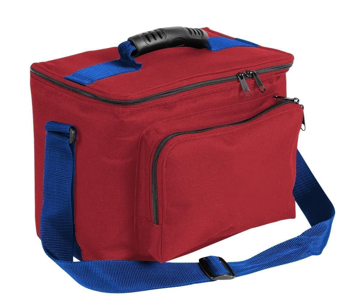 USA Made Nylon Poly Lunch Coolers, Red-Royal Blue, 11001161-AZ3