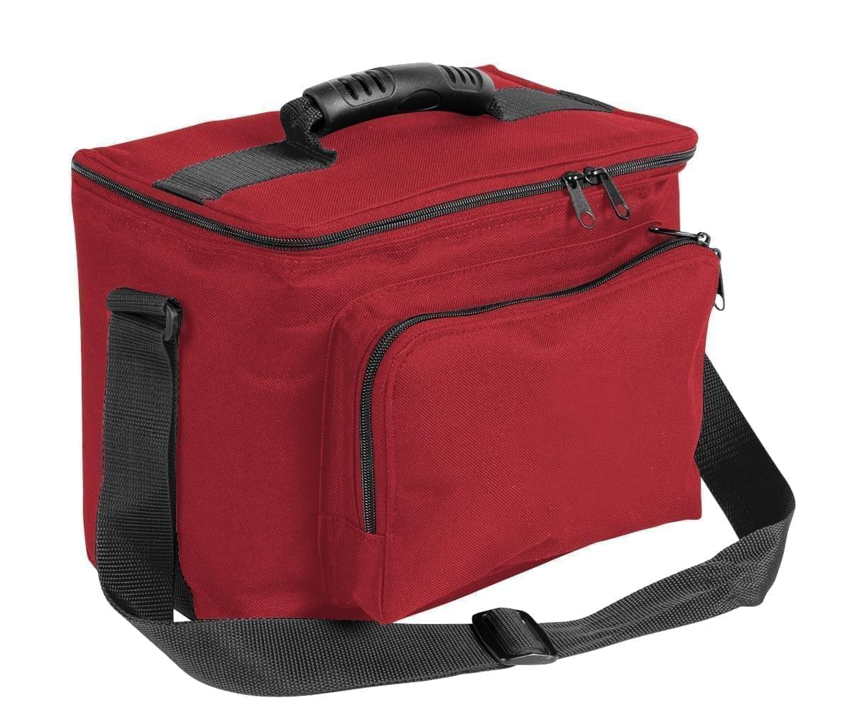 USA Made Nylon Poly Lunch Coolers, Red-Black, 11001161-AZR