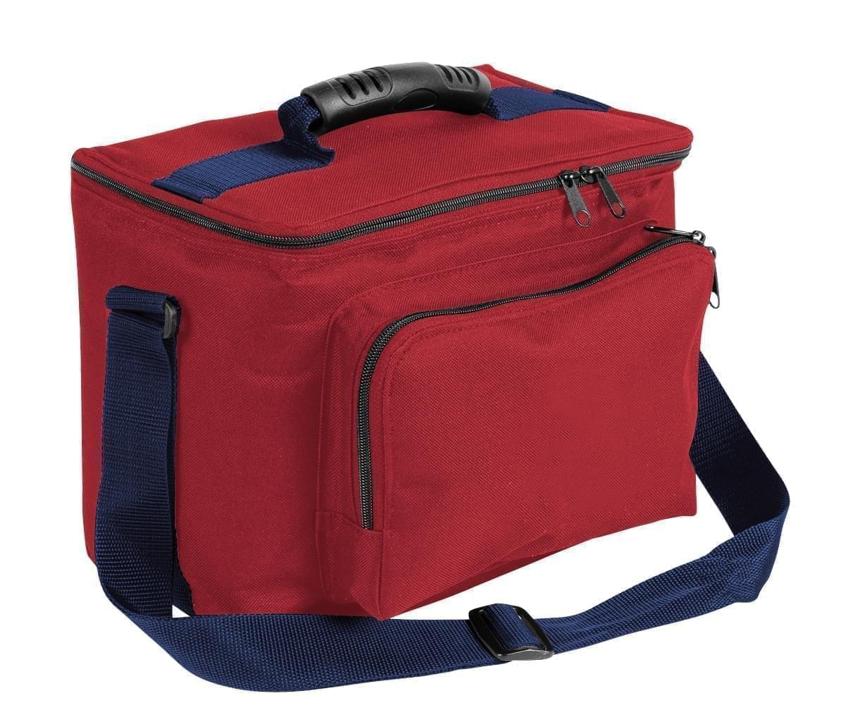 USA Made Nylon Poly Lunch Coolers, Red-Navy, 11001161-AZZ