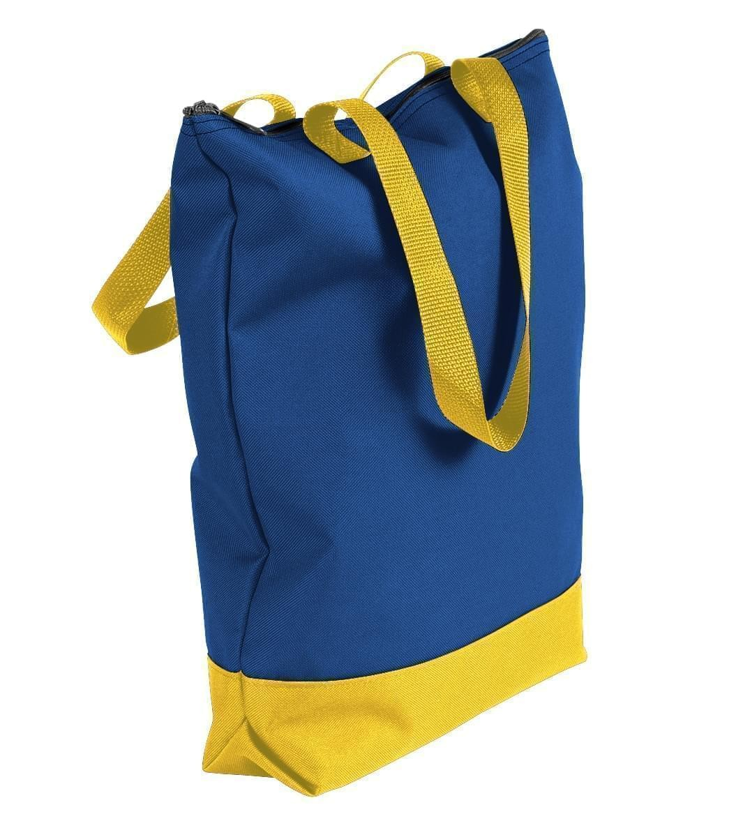 USA Made Poly Notebook Tote Bags, Royal Blue-Gold, 1AAMX1UA05