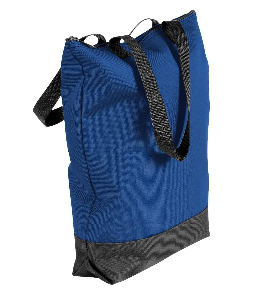 USA Made Poly Notebook Tote Bags, Royal Blue-Black, 1AAMX1UA0R