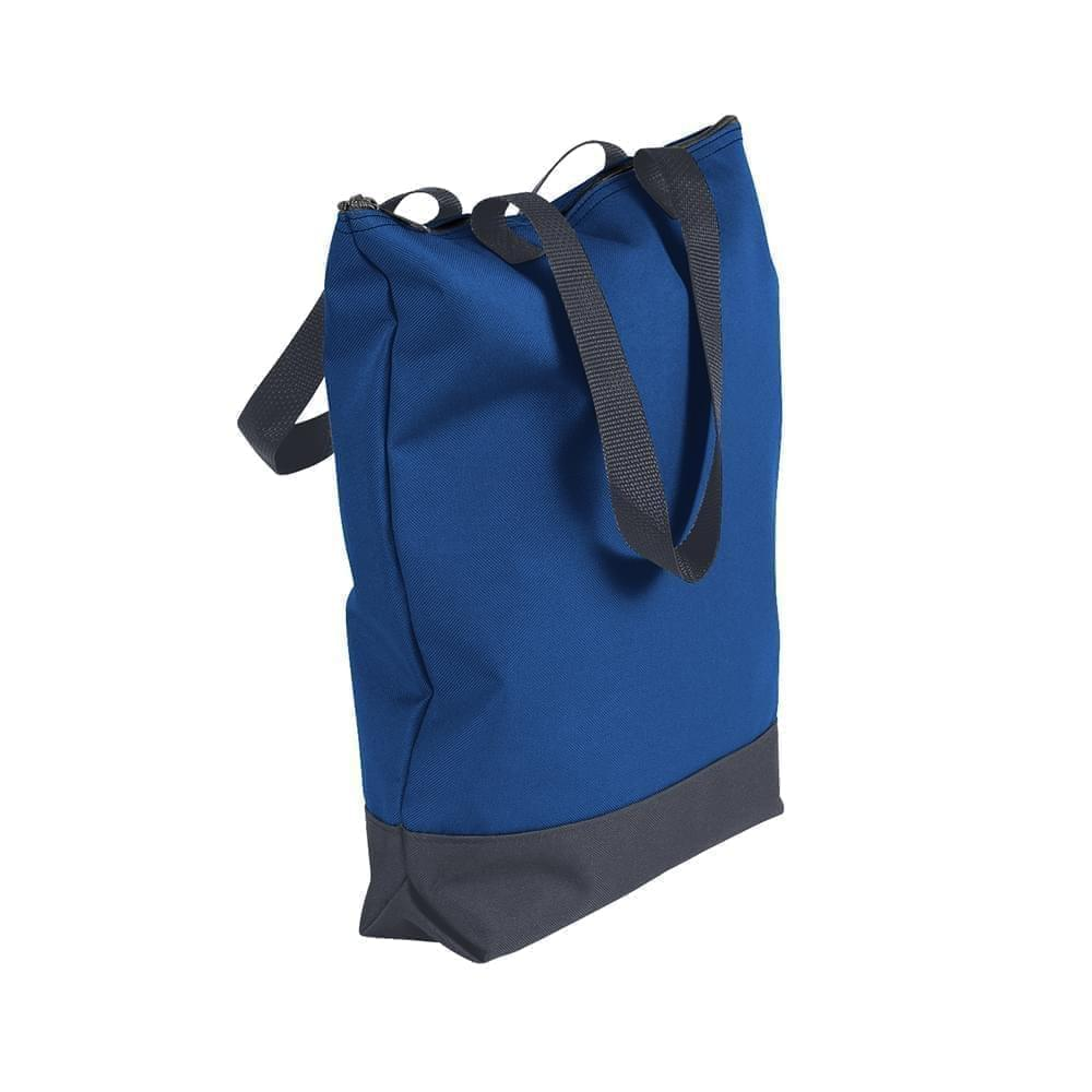 USA Made Poly Notebook Tote Bags, Royal Blue-Graphite, 1AAMX1UA0T