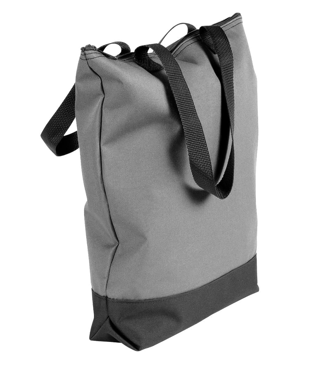USA Made Poly Notebook Tote Bags, Grey-Black, 1AAMX1UA1R