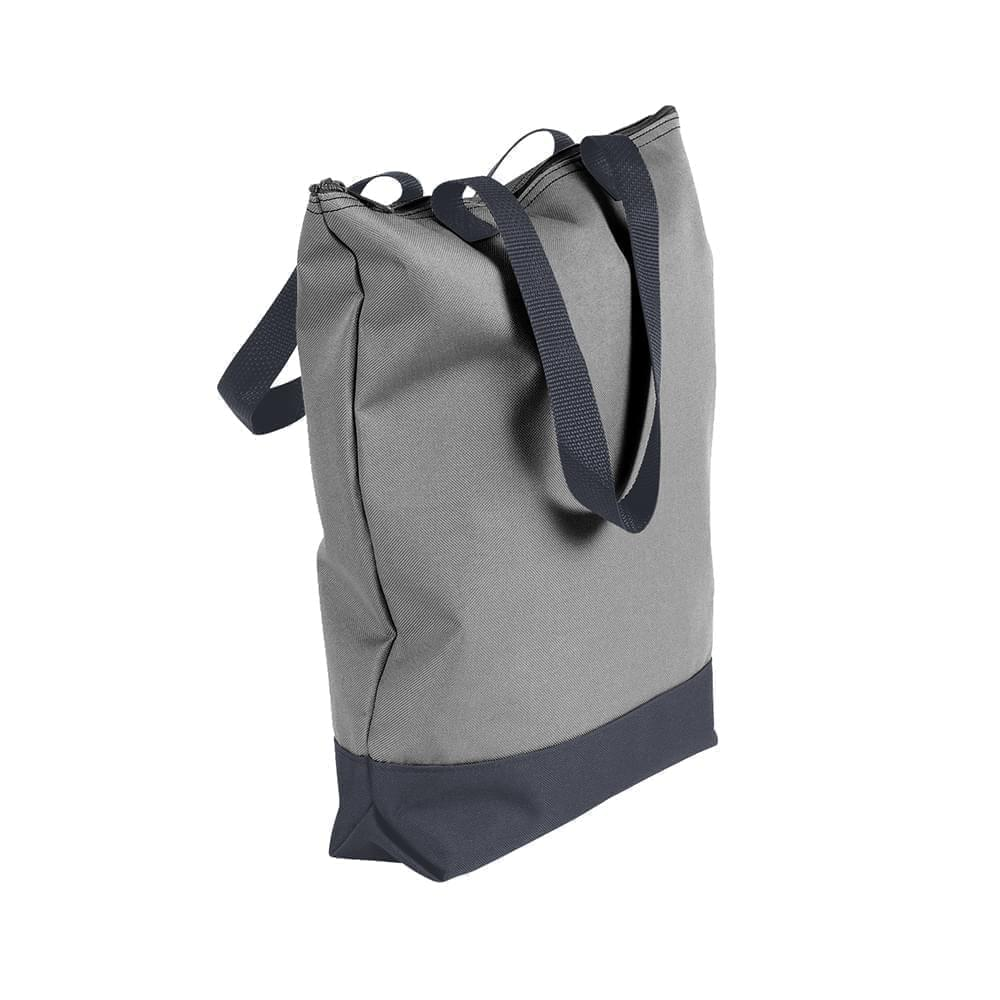 USA Made Poly Notebook Tote Bags, Grey-Graphite, 1AAMX1UA1T