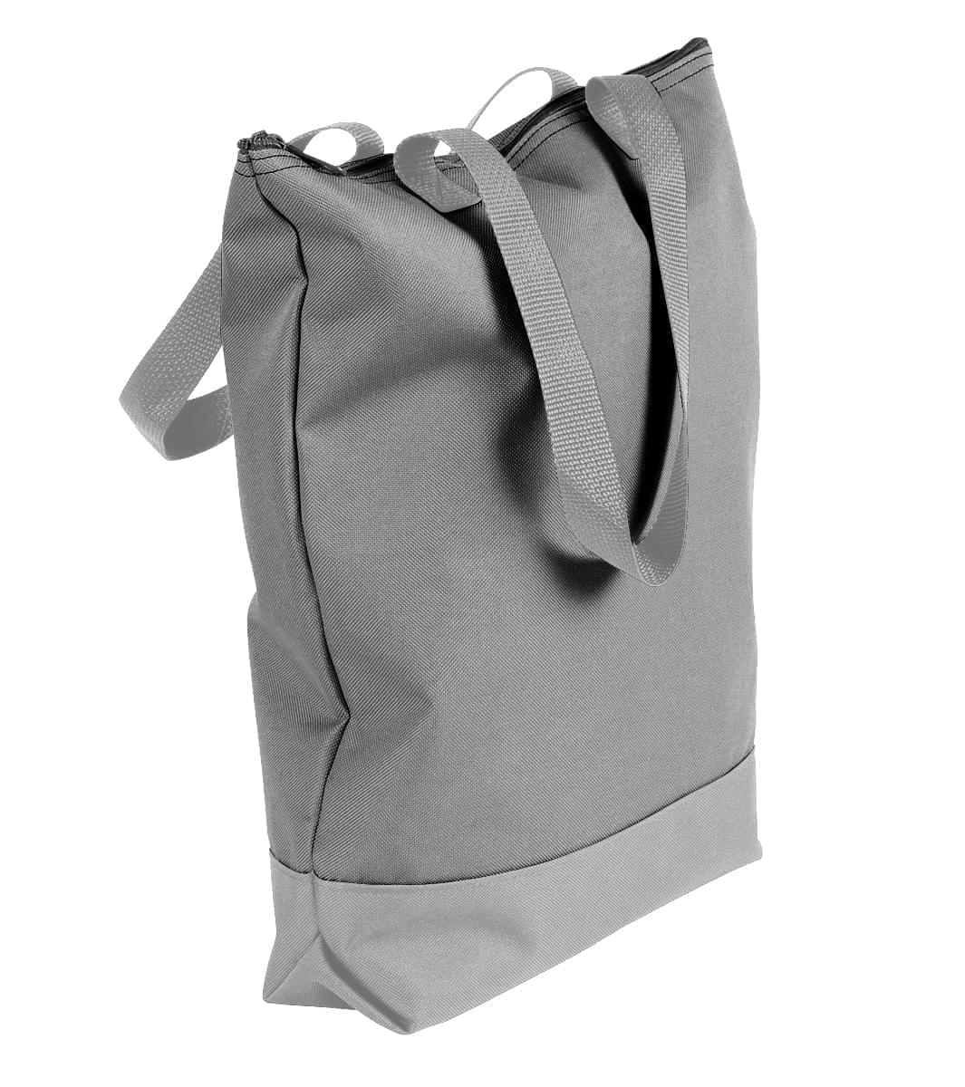 USA Made Poly Notebook Tote Bags, Grey-Grey, 1AAMX1UA1U