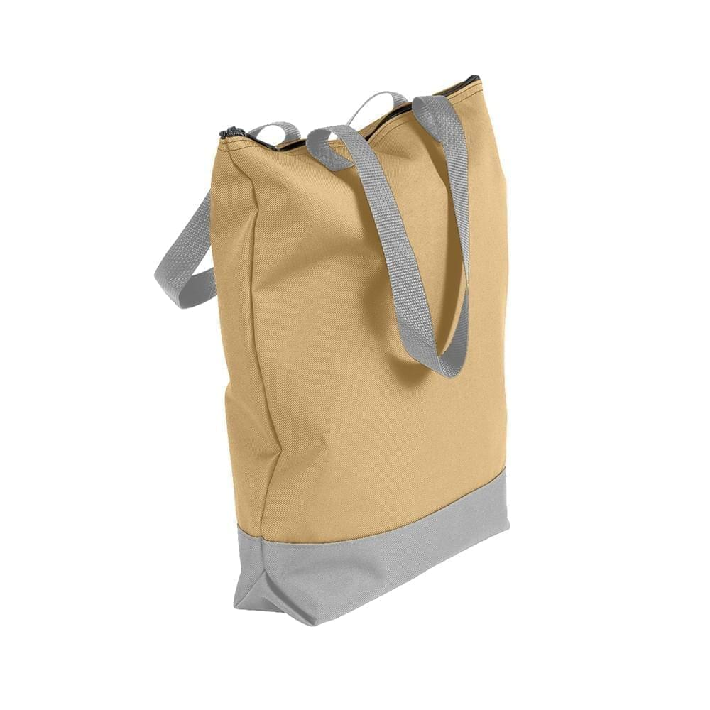 USA Made Poly Notebook Tote Bags, Khaki-Grey, 1AAMX1UA2U