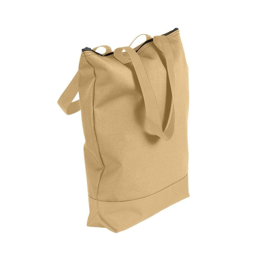 USA Made Poly Notebook Tote Bags, Khaki-Khaki, 1AAMX1UA2X