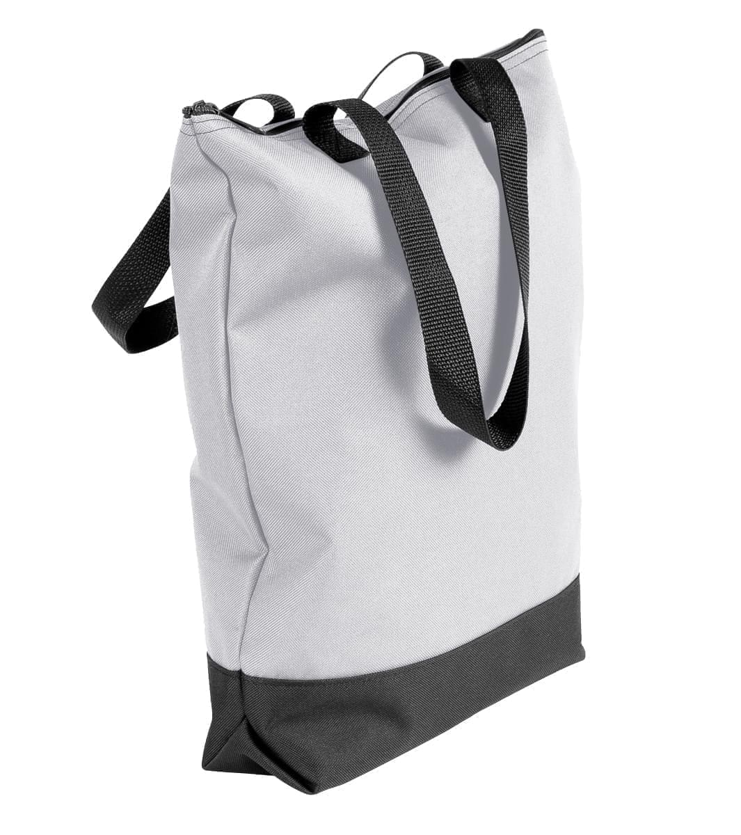 USA Made Poly Notebook Tote Bags, White-Black, 1AAMX1UA3R
